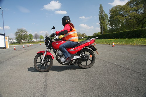 Motorcycle training and testing underway in Paisley