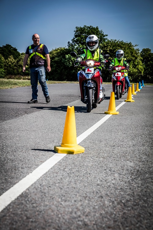 Motorcycle training and testing underway in the county of Nottinghamshire