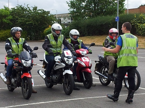 book motorcycle training in Leicester